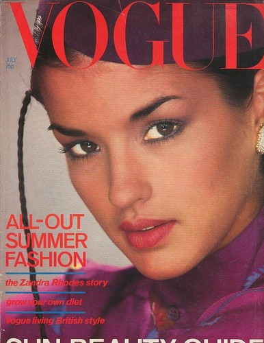 Vogue wallpaper entitled July 1978: Janice Dickinson
