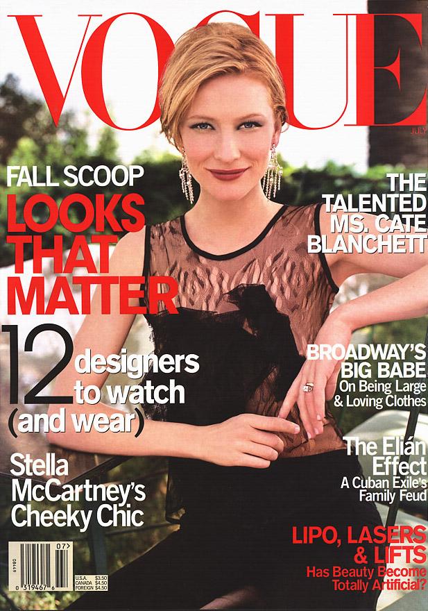 July 2001: Cate Blanchett - Vogue Photo (81571)