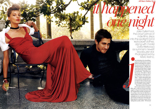 Vogue wallpaper called July 04: Jake Gyllenhaal & Daria Werbowy