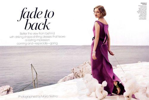 Vogue wallpaper called July 2007: Natalia Vodianova