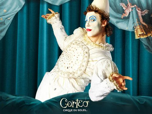 Cirque du Soleil fond d'écran entitled Corteo