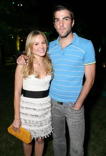 Heroes wallpaper entitled Kristen Bell & Zachary Quinto