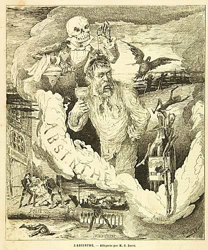 L'Absinthe Allegory por Darre