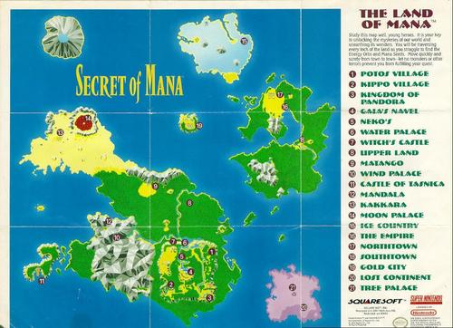 Land Of Mana Map