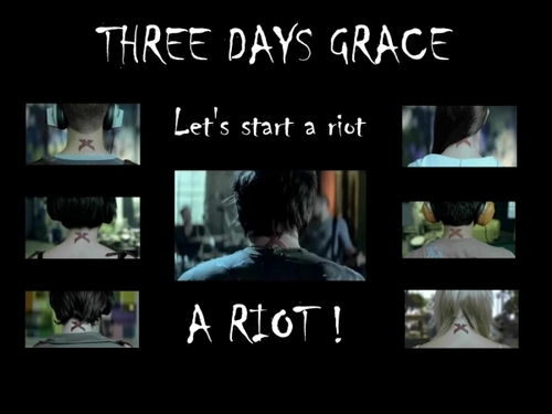 Three Days Grace kertas dinding titled Let's Start A Riot
