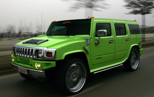 lime, calce Green Hummer