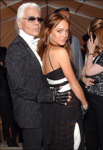 Lindsay & Karl Lagerfeld