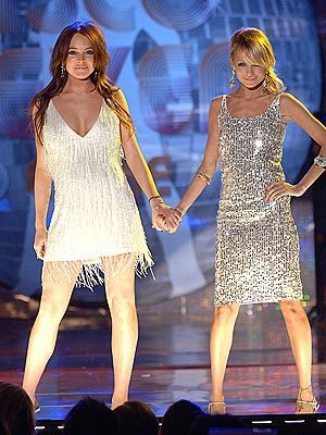 Lindsay and Nicole Richie