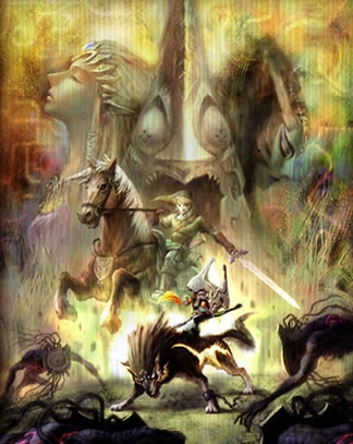Link, Epona, Midna & Wolf-Link