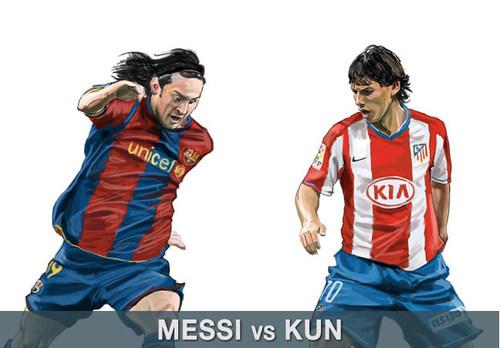 Lionel Messi and Kun Aguero