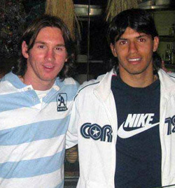 Kun Aguero And Messi