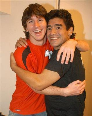 Lionel Messi y Diego Maradona