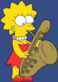 Lisa Simpson achtergrond entitled Lisa playing sax