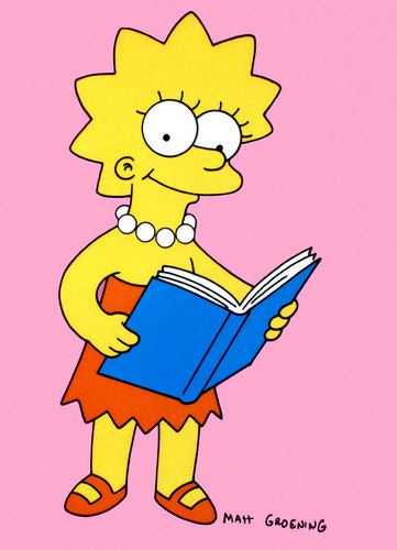 Lisa Simpson wallpaper titled Lisa reading