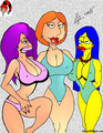 Lois &amp; Marge &amp; Lela - family-guy fan art
