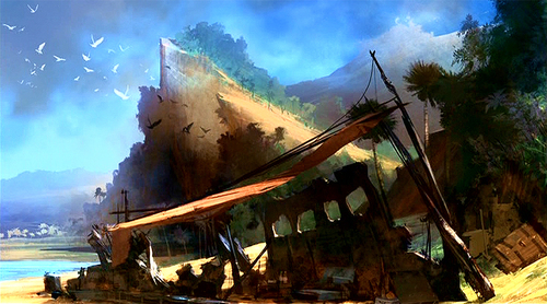 Lost: Video Game Concept Art