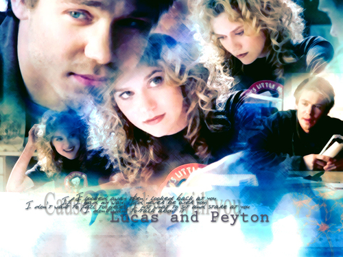 coppie della TV wallpaper titled Lucas and Peyton (OTH)