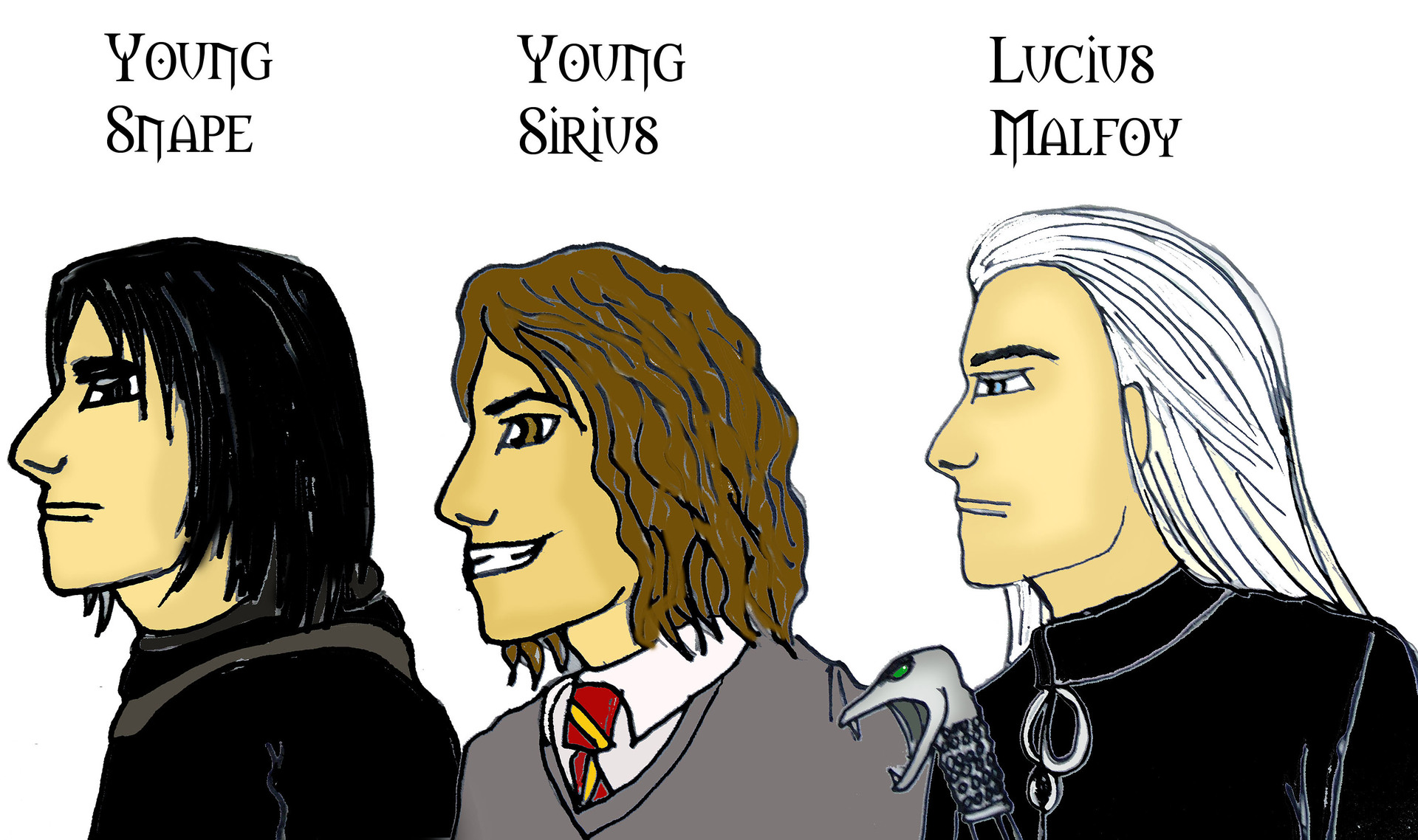 Lucius, Young Sirius and Snape