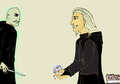 Lucius fixes the Prophecy - death-eaters fan art