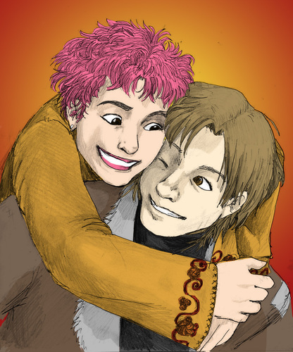 Lupin and Tonks پرستار Art