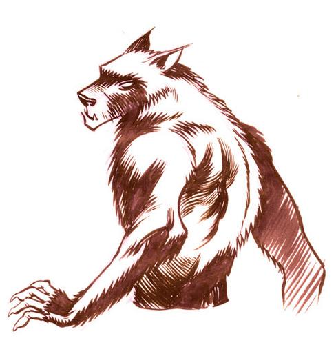 ma sói hình nền titled Lycan