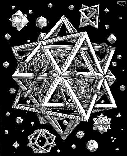 Modern Art wallpaper entitled M. C. Escher
