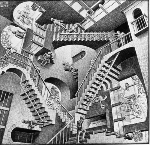 Modern Art kertas dinding entitled M. C. Escher