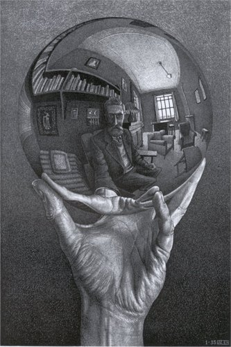 Modern Art kertas dinding called M. C. Escher