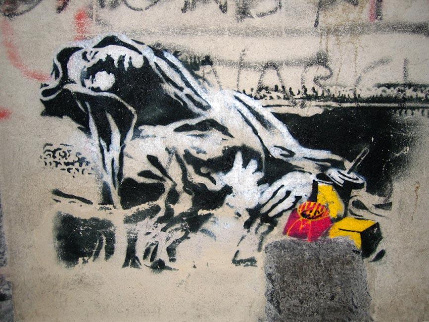 banksy wallpaper. Macdonna - Banksy Photo