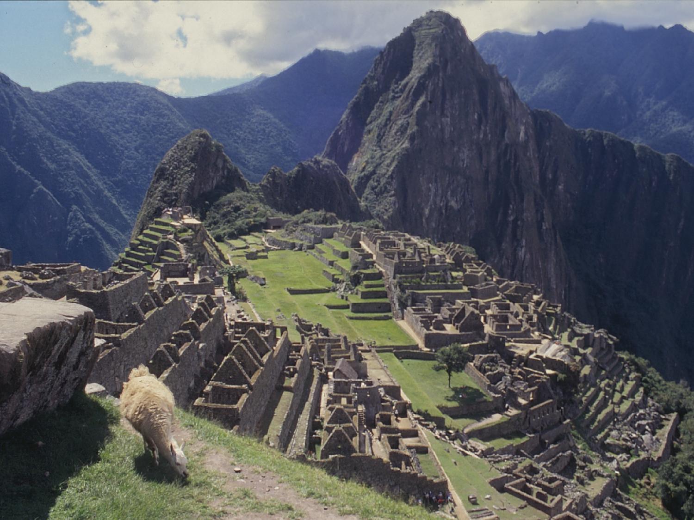 ペルーの空中都市遺跡 マチュピチュの壁紙
