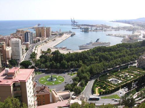 Европа Обои titled Malaga- Costa Del Sol, Spain