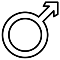 Male Symbol (for picks)