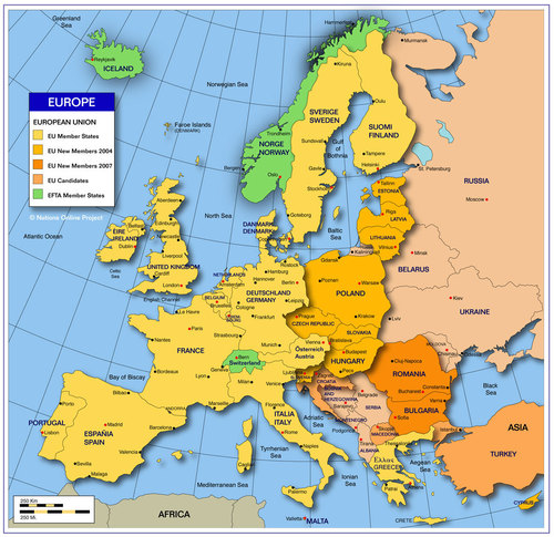 Map of Europe - europe Photo