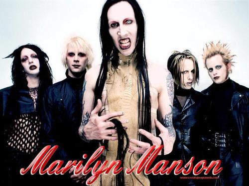 Metal wallpaper called Marilyn Manson (band)