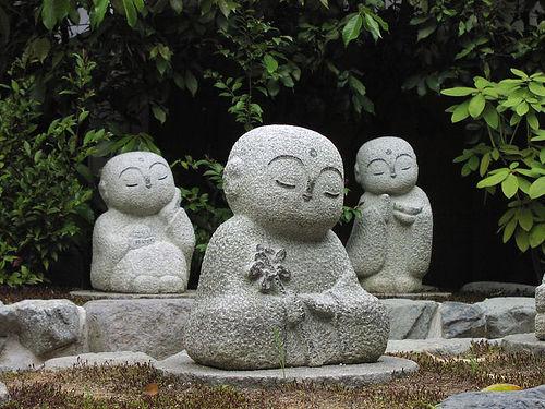 Meditating Jizō-sama