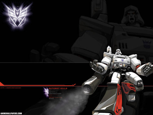 Transformers karatasi la kupamba ukuta titled Megatron: Autobot Killa