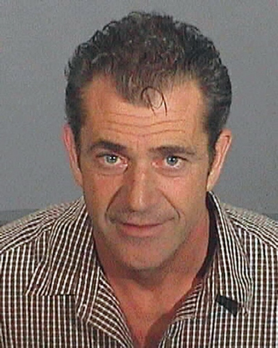 Mel Gibson mugshot