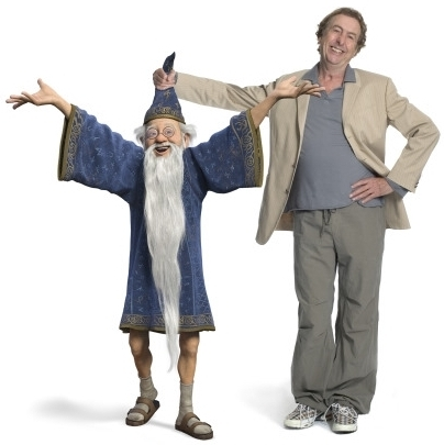 Merlin and Eric Idle - shrek Photo