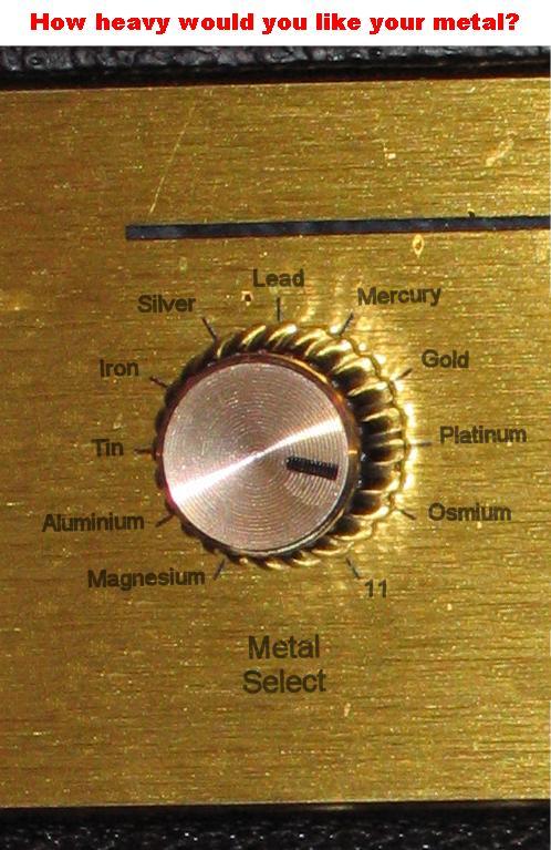 Metal dial