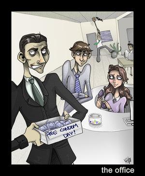 Michael, Jim & Pam