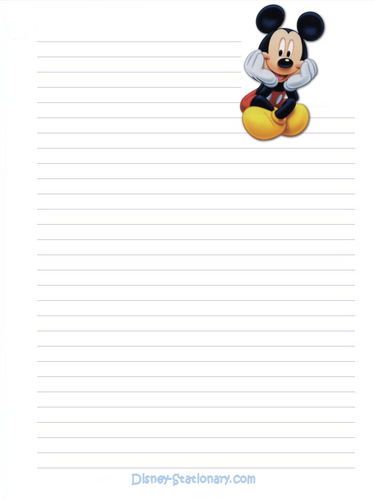 Mickey topo, mouse Stationary