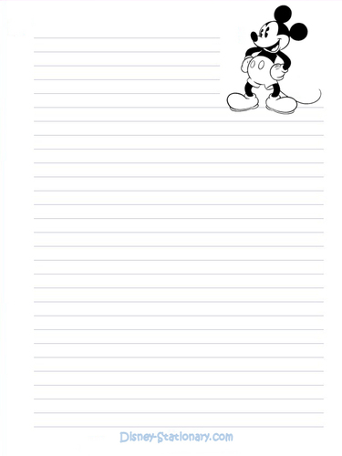 Mickey muis Stationary
