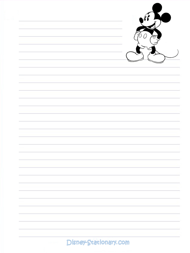 Mickey ratón Stationary