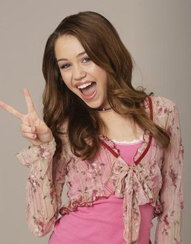 Miley ! PEACE! LOL!