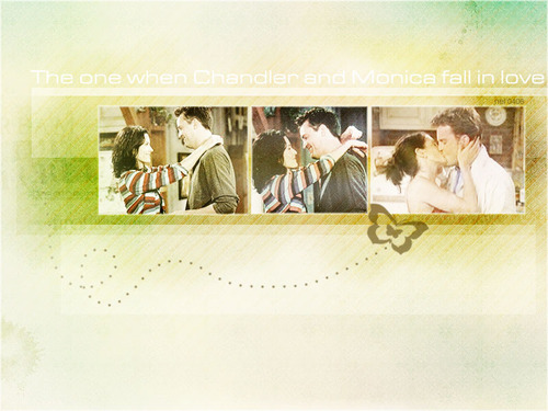 Monica and Chandler wallpaper called Mondler<333