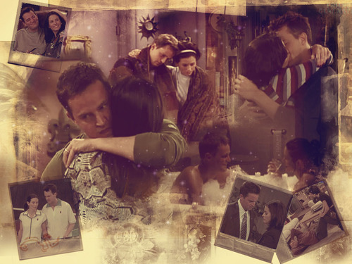 Monica and Chandler wallpaper titled Monica and Chandler