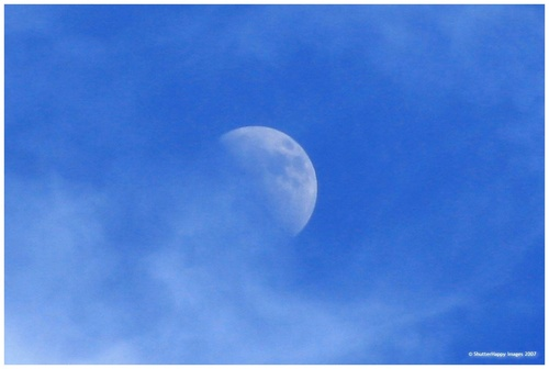 Moon during the day