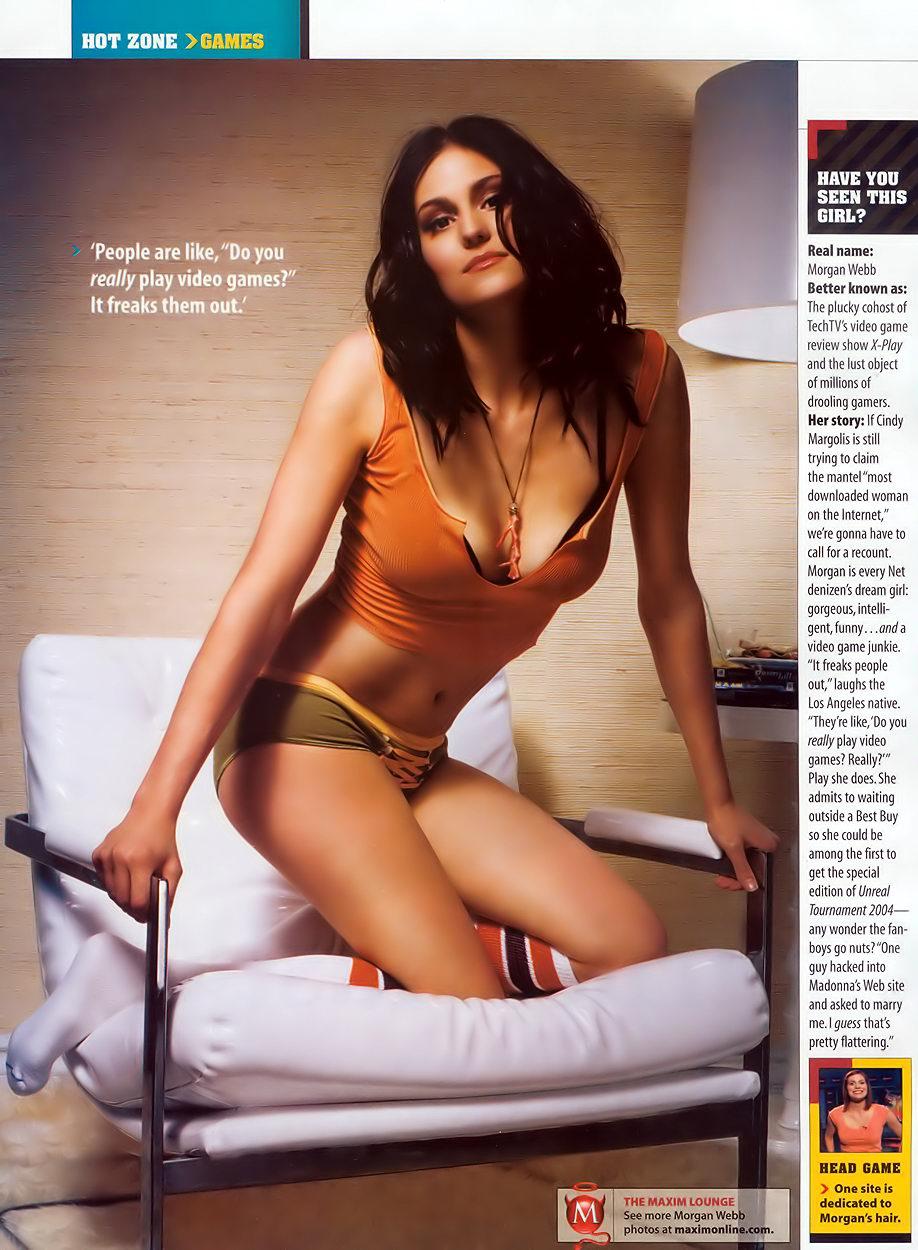 Maxim pictures of morgan webb in a bikini