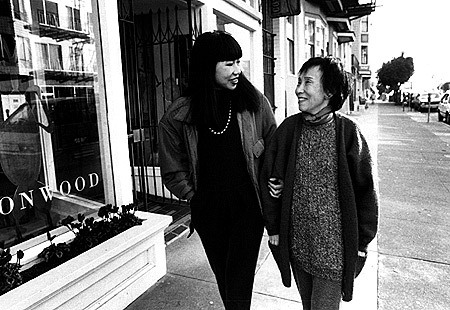 the mother daughter relationship in the novel the joy luck club by amy tan Amy tan's first novel, the joy luck club, is a touching, funny, sad,  constructed  group portrait of four mother-daughter relationships that.