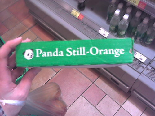 Multicoloured Panda's